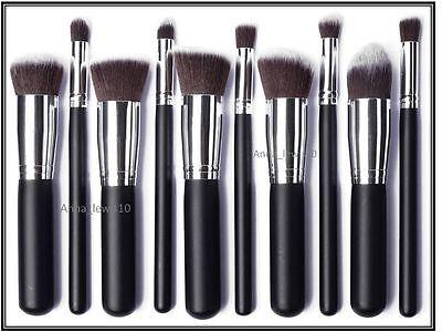 10 PCS Professional Make up Brush Set Foundation, Blusher, Powder Kabuki Brushes