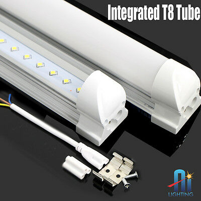 10pc 4FT 18WATT T-8 Integrated LED Tube Light Fluorescent Light Replacement