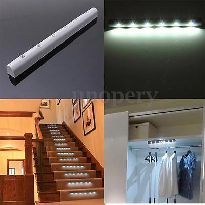 Wireless PIR Motion Sensor 6 Bright LED Powered Night Cabinet Wall Stair Light