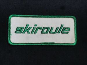 Vintage-Skiroule-Snowmobile-1960-70-039-s-Original-Accessory-Embroidered-Patch