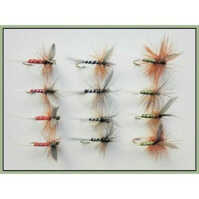 3 6 or 12x Red Spinner Dry Trout Flies for Fly Fishing