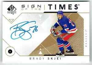 2019-20-SP-AUTHENTIC-18-19-SIGN-OF-THE-TIMES-BRADY-SKJEI-AUTO-NEW-YORK-RANGERS
