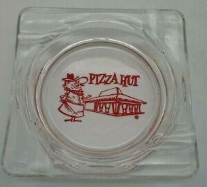 """Vintage PIZZA HUT PETE MASCOT ASHTRAY Red Thermoglazed Design 4.25"""" Square 1970s"""