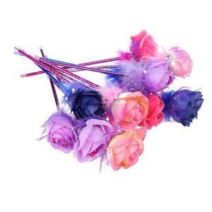 Korea-20pcs-Handcrafted-Plastic-Rose-Flower-Ball-Pen-Ballpoint-Gift-FreeColor