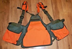Hunting-Shooting-Falconry-Vest-Gun-Dog-Handlers-Works-K9-Shiny-Orange-Reflect