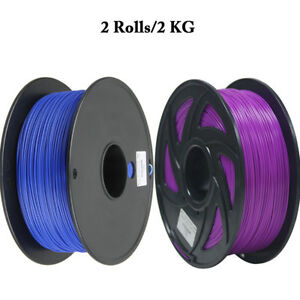 Analytical Free Tax 2 Rolls Filament Pla1.75mm Purple And Bule Color For 3d Printer Cz Sent Durable Service Computers/tablets & Networking 3d Printer Consumables