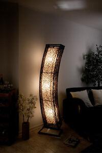 einzigartige xxl stehlampe rattanlampe stehleuchten mit. Black Bedroom Furniture Sets. Home Design Ideas
