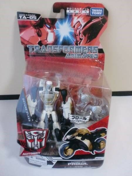 Japan exclusive Transformers Animated Deluxe Autobot Elite Guard Prowl Takara