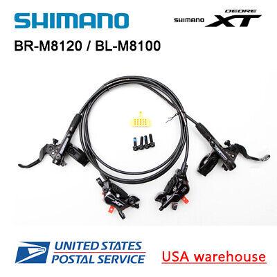 Neu Shimano XT BL-M8100 BR-M8120 4 Kolben Scheibe Ice Tech Bremsen Set F/&r OE