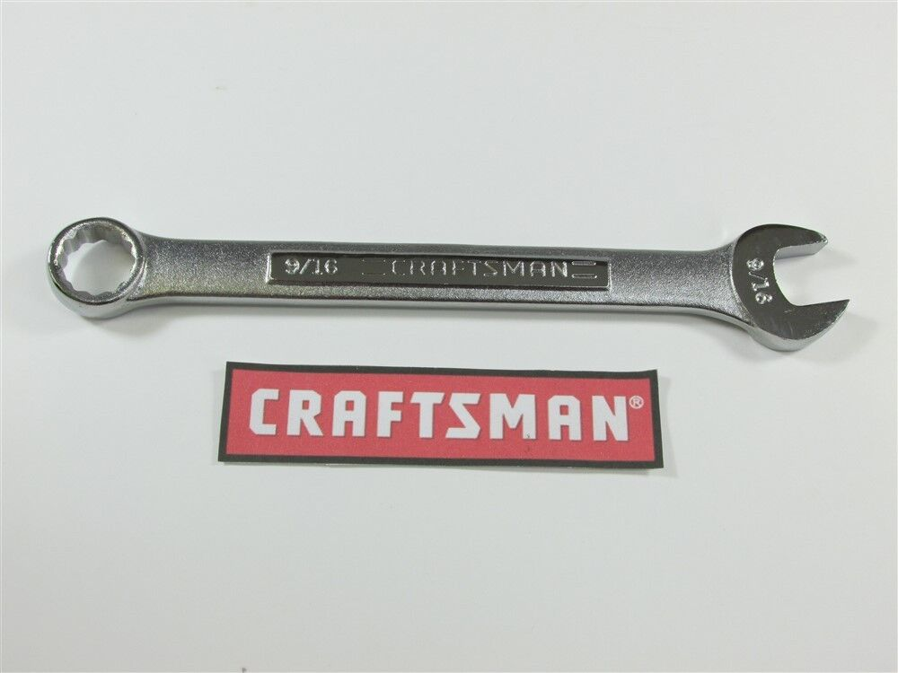 Choose Size Craftsman New 12 Point Box Open  SAE and Metric Combination Wrench