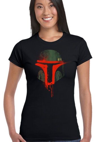 Boba Fett Helmet Womens T-Shirt Star Wars Bounty Hunter Jedi Yoda Darth Vader
