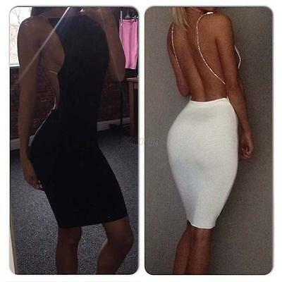 Sexy Bandage Bodycon Women's Backless Evening Party Cocktail Mini Dress Clubwear
