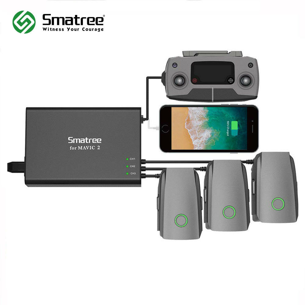 Smatree Mavic 2 Pro Charger Hub,Multi Battery Charger for Mavic 2 Pro Zoom Drone