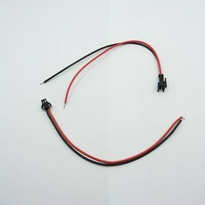 DC 12V Female & Male JST Connector 2Pin Plug Wire 20cm LED ...