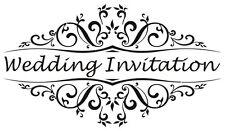 Vintage Wedding Invitation Rubber Stamp *NEW*