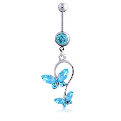 Strass Nombril Anneau berballs Belly Button Rings Dangle Body Piercing Jewelry