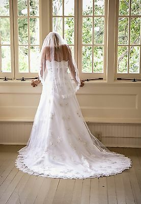 Wedding Dress Wedding Gown Size 6 White Lace Overlay Over Satin Strapless Ebay,Fall Second Marriage Wedding Dresses Color