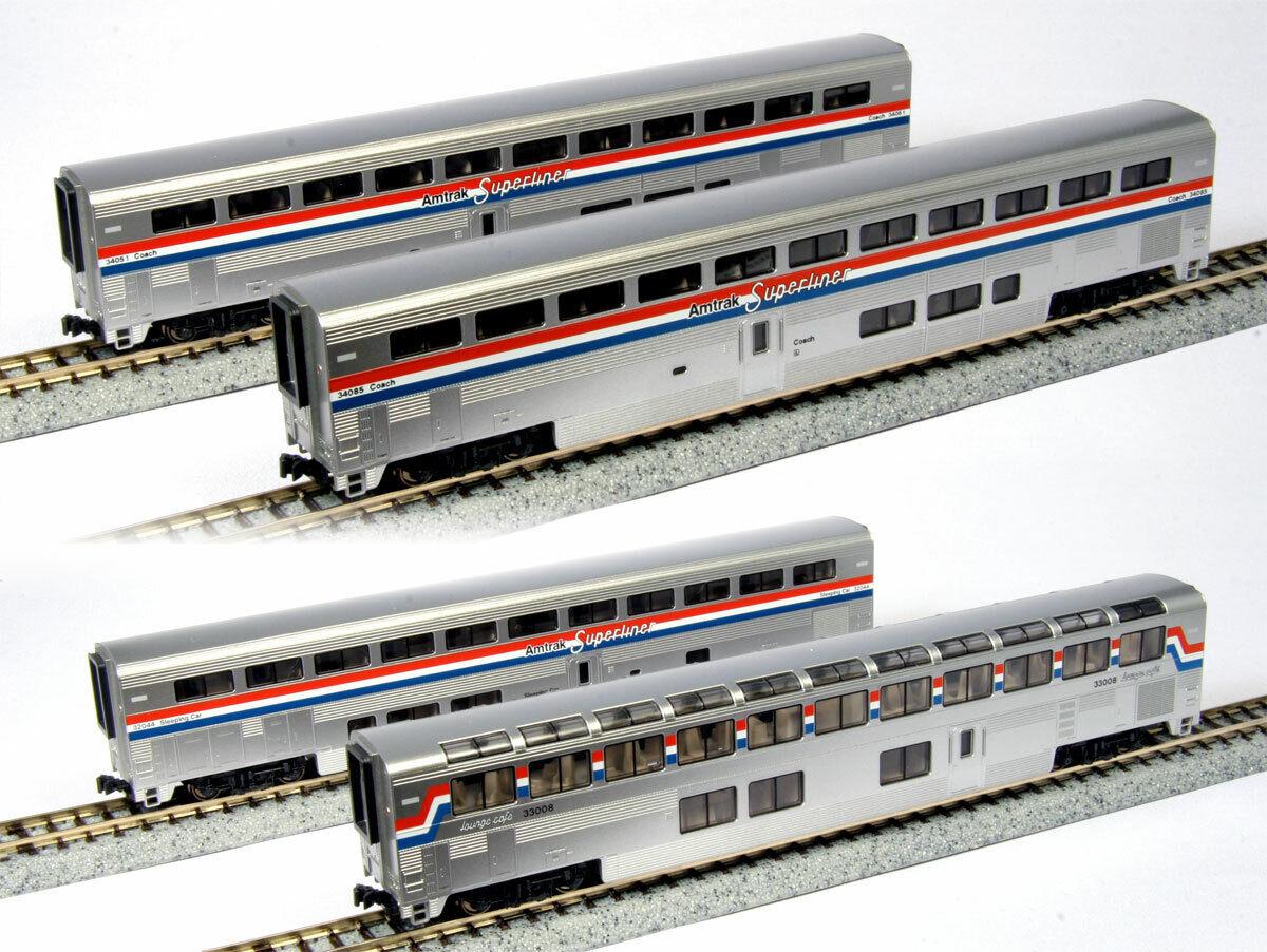 promociones Kato 106-3518 106-3518 106-3518 Amtrak súperliner PhIII 4 Coche Set B  precios bajos todos los dias