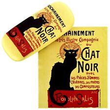 Brillenetui Hardcase Box Kunst Motiv Paris Katze schwarz Geschenk Chat Noir 7519