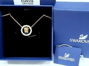 fc95560fd53c3 Details about Swarovski Hollow Pendant Small, White, Gold-Plated Crystal  Authentic MIB 5349336