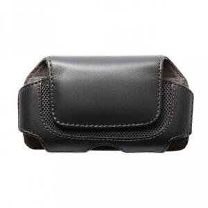 BLACK-PREMIUM-LEATHER-PHONE-SIDE-CASE-COVER-HOLSTER-POUCH-with-SWIVEL-BELT-CLIP