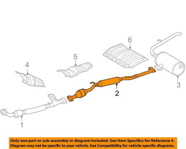 toyota oem 2004 sienna 3 3l v6 exhaust intermediate pipe 174200a251 rh ebay com 2004 toyota sienna exhaust system diagram 2004 toyota sienna exhaust system diagram