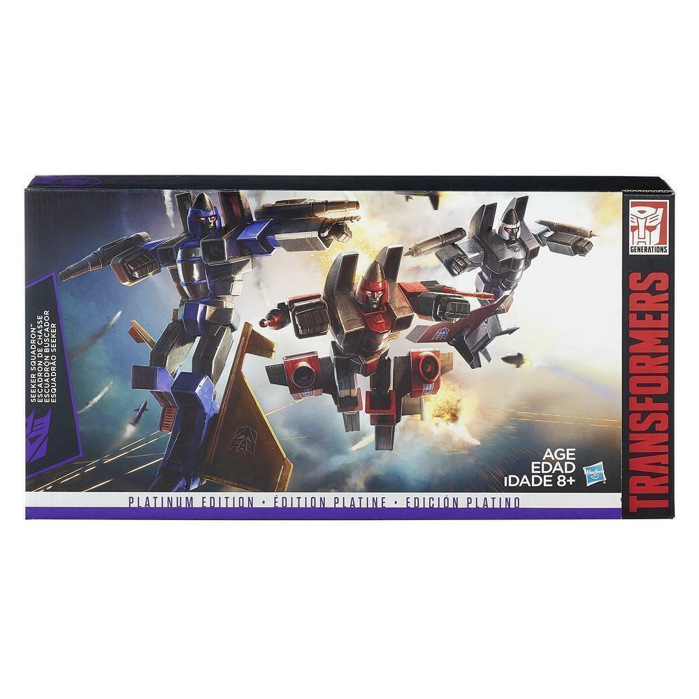 Transformers Seeker escuadrón fúnebre empuje Ramjet Platinum Edition Nuevo Sellado