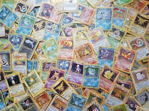 Pokemon-base-set-WOTC-old-vintage-Lot-10-card-HOLO-RARE-1st-edition-Shadowless