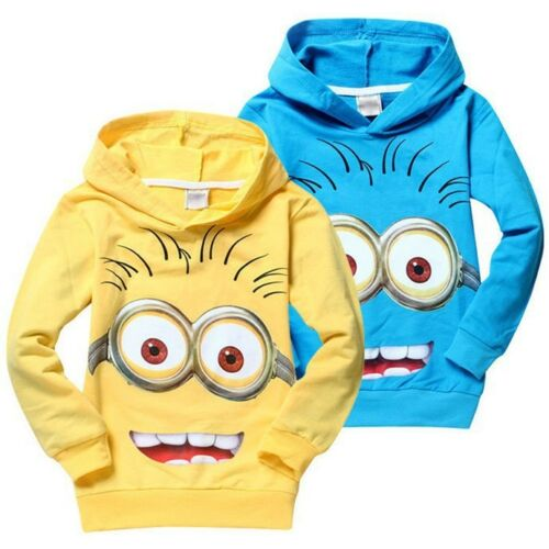 Cotton Kids Boys Girls Sweatshirt Long Sleeve Children Cartoon Hoodie Costume