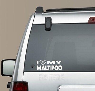 "I Heart my Maltese/"" Dog Bone /"" decal doggie puppy treat sticker"
