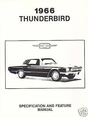 ford thunderbird facts feature manual ebay