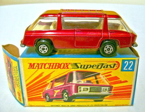 Matchbox SF Nr.22B Freemen Inter City Commuter rotmetallic in Box  | Verkauf Online-Shop