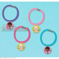Doc Mcstuffins Hair Ponies (4) Favors Pony Tail Ties Birthday Party Supplies