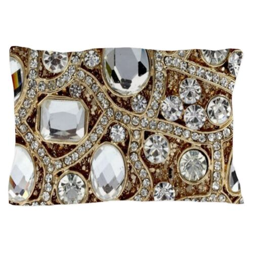 CafePress Bohemian Girly Bling Rhinestone Pillow Case 1821429867