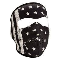 Vintage Flag Neoprene Ski Mask Reversible Full Motorcycle Biker Usa Face Mask +