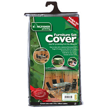 KINGFISHER Garden Furniture Table Chairs Rectangular Cover Waterproof Protector