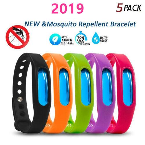 5Pcs Anti Mosquito Pest Insect Bugs Bracelet Repellent Wrist Band Bracelet Gift