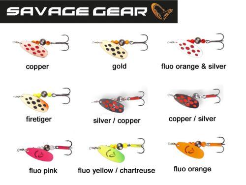Hechtköder Savage Gear Caviar Spinner Kunstköder zum Spinnfischen Blinker