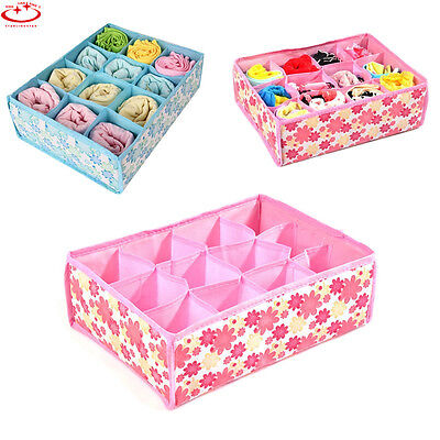 Foldable Underwear Bra Socks Ties Divider Closet Container Storage Box Organizer