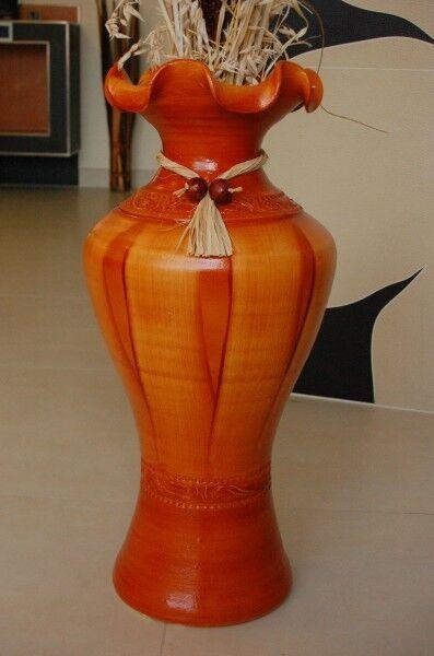 Deko Shop Hannusch Edle 60 Cm Bodenvase Braun Günstig Kaufen Ebay