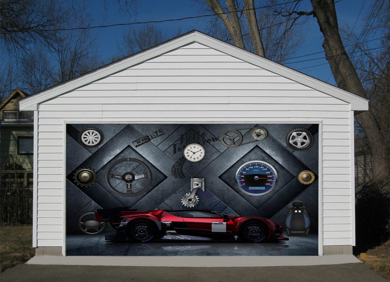 3D Ricambi Auto 89 Garage Porta Stampe Parete Decorazione Murale AJ WALLPAPER IT