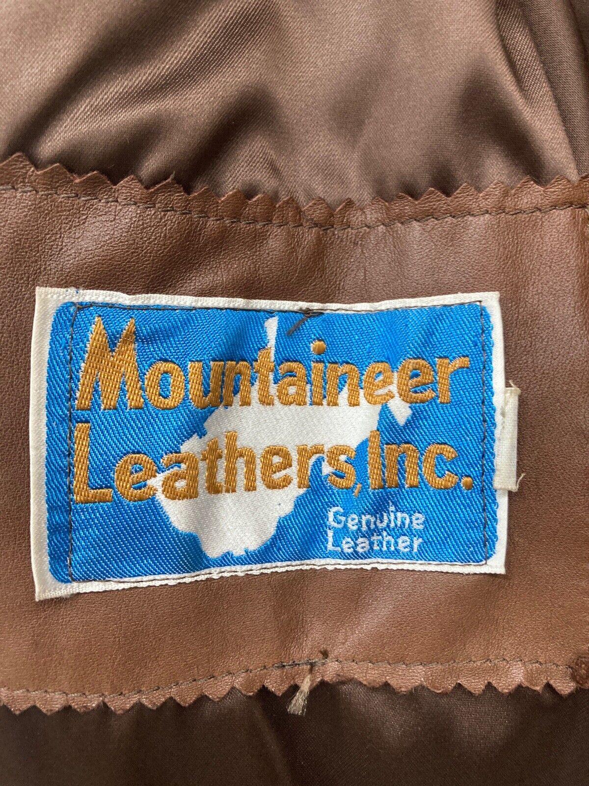 Genuine Vintage 1970s Brown Leather Blazer Jacket… - image 9