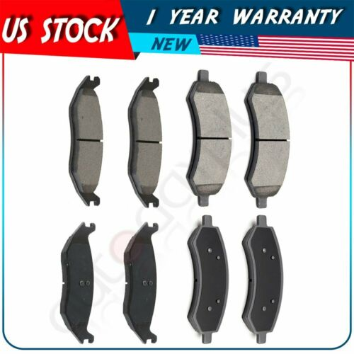 8X Brake Ceramic Pads For 2011 2012 2013 2014 Ram 1500 Front and Rear Low Dust