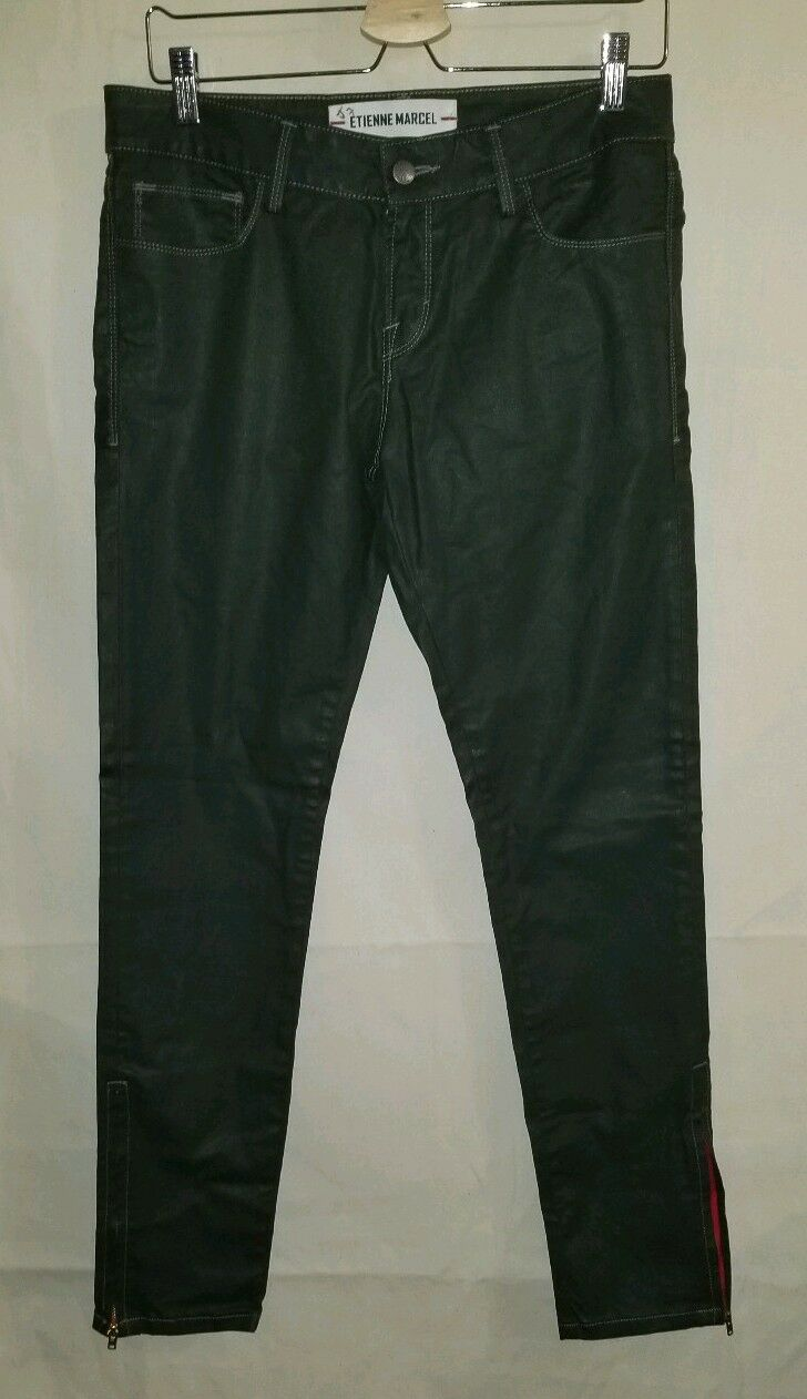 Etienne Marcel Green Womens Size 29x29 Coated Pants EM7017