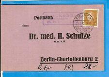DR / Mühlhausen (Kr. Pr. Holland) Land / Brickehnen, violetter Ra3 auf Postkarte