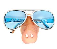 Brille mit Schweinenase NEU - Zubehör Accessoire Karneval Fasching