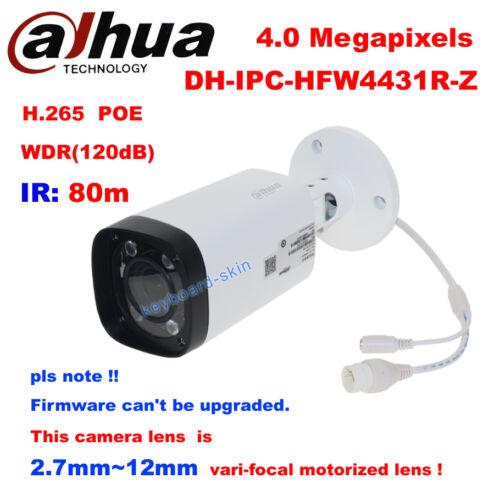 Dahua IPC-HFW4431R-Z 4MP POE 2.7~12mm VF Lens Motorized Zoom IP Bullet Camera IR