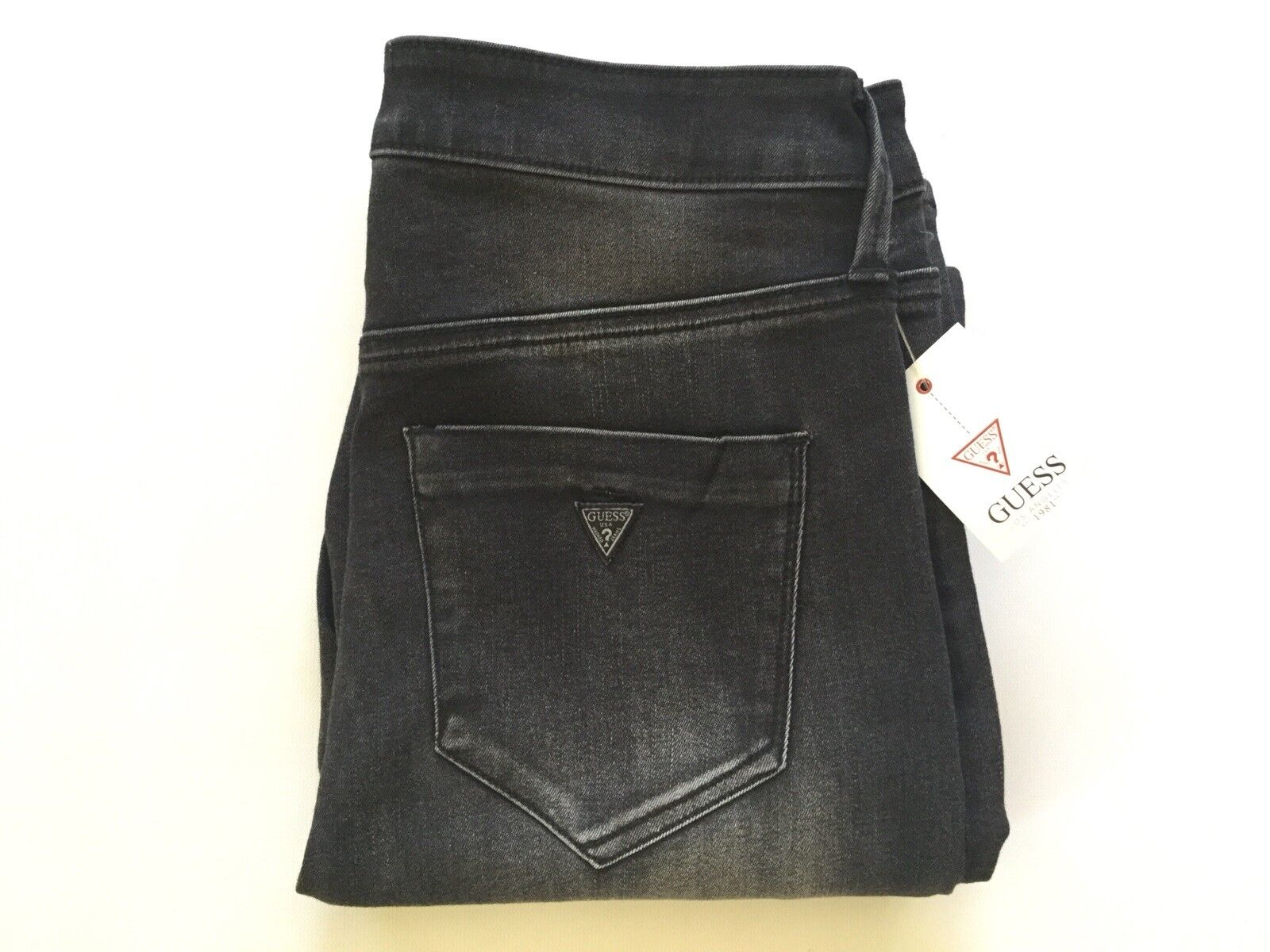 Guess Women's High Rise Skinny Jeans With Tuxedo Stripe Size 26