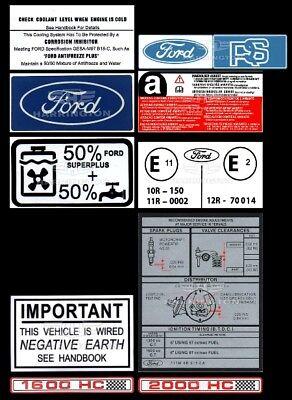 Ford Escort Mk1 Dash panel sticker