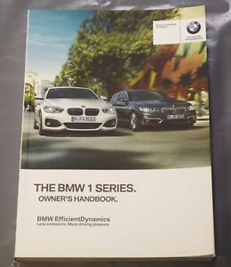 genuine bmw 1 series f20 f21 2015 2018 handbook owners manual book rh ebay co uk bmw e39 manual book bmw 120i manual book